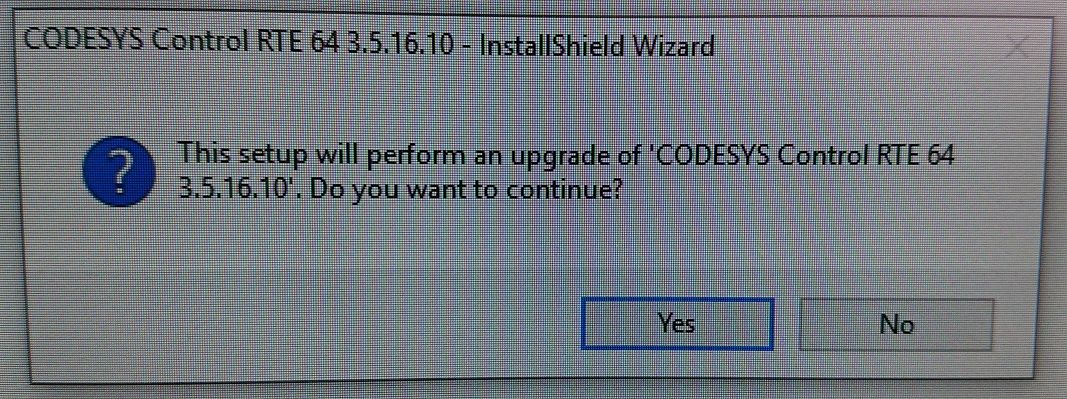 beckhoff codesys runtime upgrade